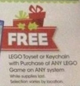 Keychain with Purchase of Any Lego Game