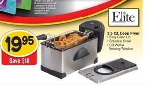 Elite 3.5qt Deep Fryer