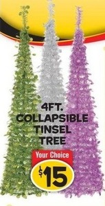 4' Collapsible Tinsel Tree