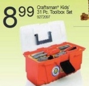 Craftsman Kids' 31 Pc. Toolbox Set