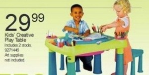 Kids' Creative Play Table w/ 2 Stools