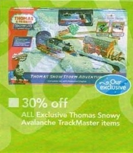 All Exclusive Thomas Snowy Avalanche TrackMaster Items