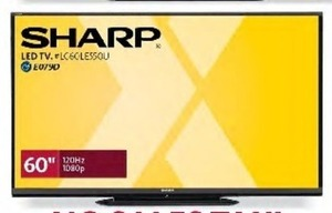 "Sharp LC60LE550U 60"" 1080p LED HDTV"