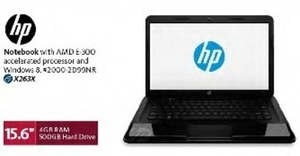 "HP 15.6"" Notebook w/ 4GB RAM & 500GB HDD"