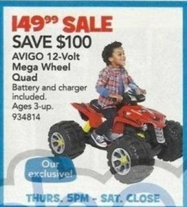 AVIGO 12 Volt Mega Wheel Quad