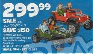 Power Wheels Fisher-Price Jeep Hurricane Ride On