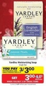 Yardley Moisturizing Soap w/ Wellness+ Card