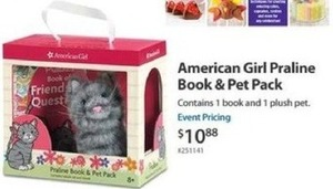 American Girl Praline Book & Pet Pack