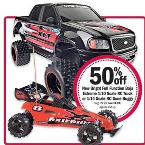 Bright Full Function Baja Extreme 1:10 Scale RC Truck