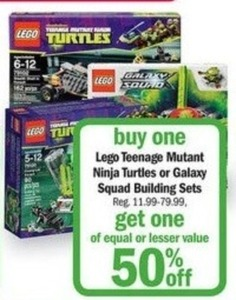 Lego Teenage Mutant Ninja Turtles or Galaxy Squad Building Sets