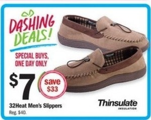 Thinsulate Insulation 32Heat Men's Slippers
