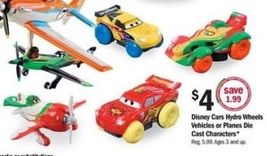 Disney Cars Hydro Wheels Vehicles