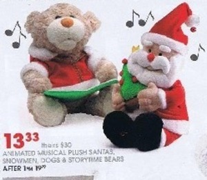 Animated Musical Plush Santas