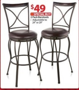"2 Pack Barstools 24"" or 29"""