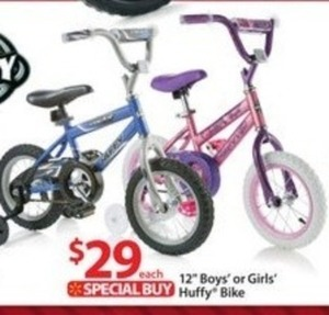 "12"" Girls or Boys Huffy Bike"