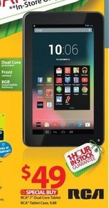 "RCA 7"" Dual Core Tablet + Case"