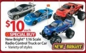 New Bright 1:16 Scale RC Truck or Car