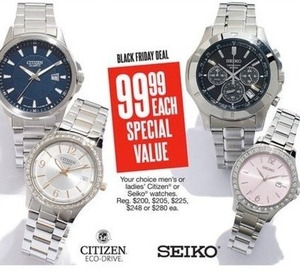 Select Men's & Women's Seiko and Citizen Eco-Drive Watches
