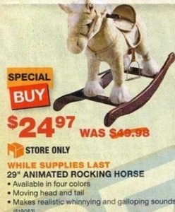 "29"" Animated Rocking Horse"