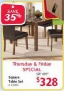 Home Solutions Square Table Set