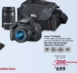 Canon T3i 18.0MP Digital SLR Value Bundle