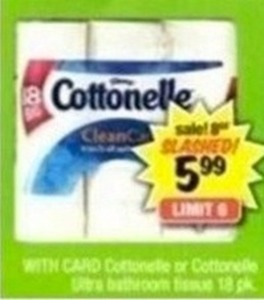 Cottonelle Ultra Bathroom Tissue 18pk