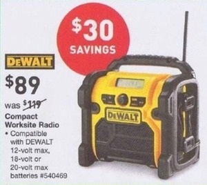 DeWalt Compact Jobsite Radio