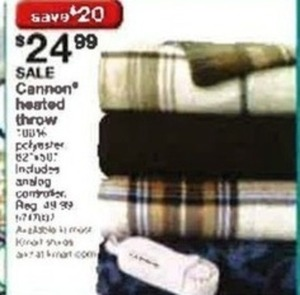 Cannon Heated Throw