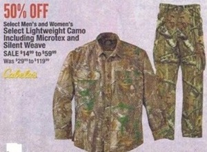 Select Men's & Women's Lightweight Camo