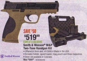 Smith & Wesson M&P Two-Tone Handgun Kit