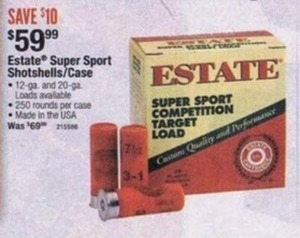 Estate Super Sport Shotshells/Case
