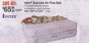 Intex Supreme Air Flow Twin & Queen Size Bed