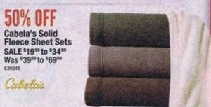 Cabela's Solid Fleece Sheet Sets