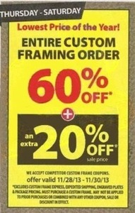 Entire Custom Framing Order (After Coupon)