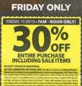 Entire Purchase (After Coupon) Fri 7am - Noon
