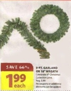 "9' Garland or 18"" Wreath"