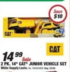 "CAT 2 Pack 14"" Junior Vehicle Set"