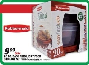 Rubbermaid 20 pc Easy Find Linds Storage Set