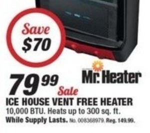 Mr. Heater Ice House Vent Free Heater