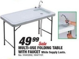 Multi-Use Folding Table w/ Faucet