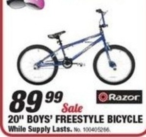 "20"" Boys' Freestyle Bicycle"