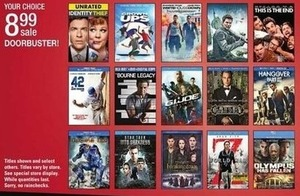Select Blu-Ray DVDs