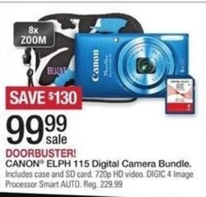 Canon ELPH 115 Digital Camera Bundle