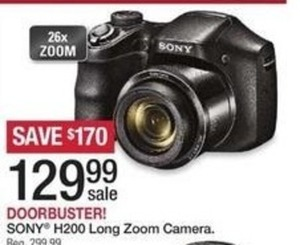 Sony H200 Long Zoom Camera