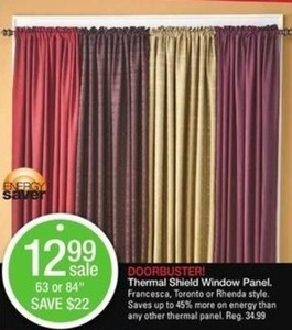"""Thermal Shield Window Panels 63"""" or 84"""""""