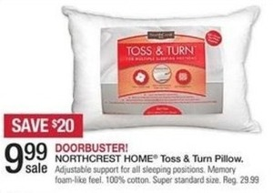 Northcrest Home Toss & Turn Pillow