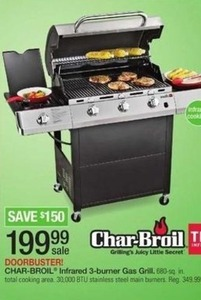 Char-Broil Infrared 3-Burner Gas Grill