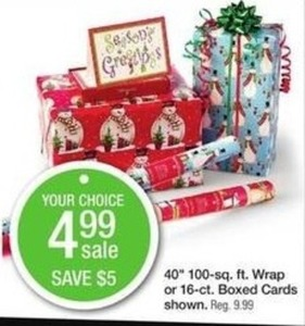 "40"" 100-sq. ft. Wrap or 16-ct. Boxed Cards"