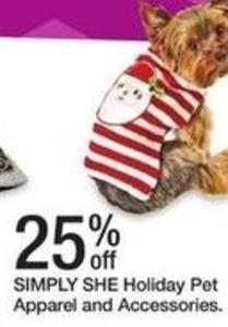 Simply She Holiday Pet Apparel and Accessories