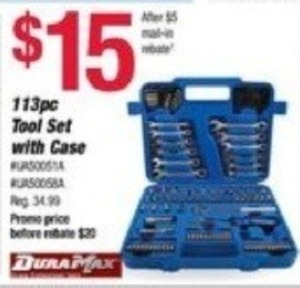 DuraMax 113pc Tool Set w/ Case